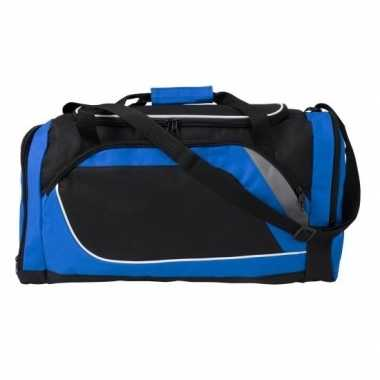 Blauw zwarte sporttas/sporttas