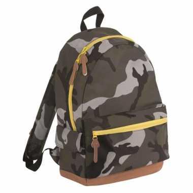 Camouflage sporttas rugzak/rugtas
