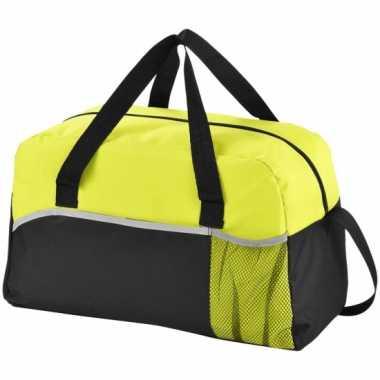 Duffel bag/sporttas zwart/groen