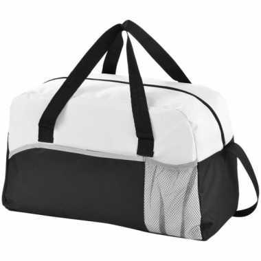 Duffel bag/sporttas zwart/wit