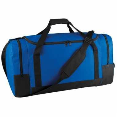 Grote blauwe sporttas