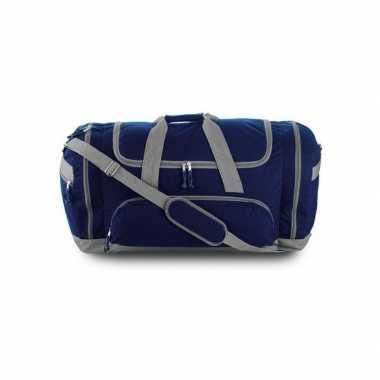 Grote sporttas blauw/grijs