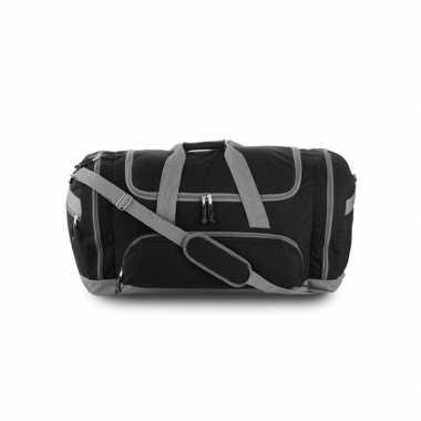 Grote sporttas zwart/grijs