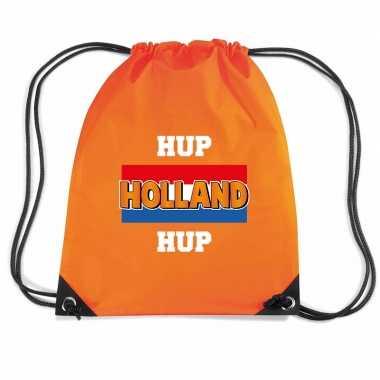 Hup holland hup voetbal rugzakje / sporttas rijgkoord oranje