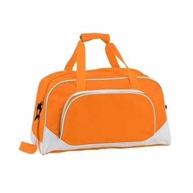 Oranje sporttas