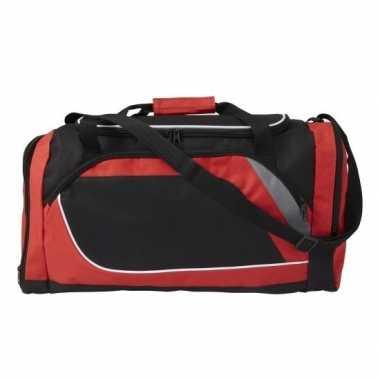 Rood zwarte sporttas/sporttas