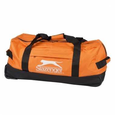 Slazenger sporttas trolley oranje