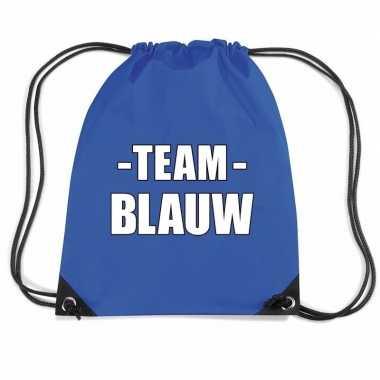 Sportdag team blauw rugtas sporttas