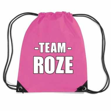 Sportdag team fuchsia roze rugtas sporttas