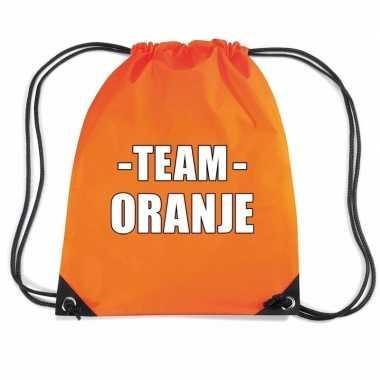 Sportdag team oranje rugtas/ sporttas