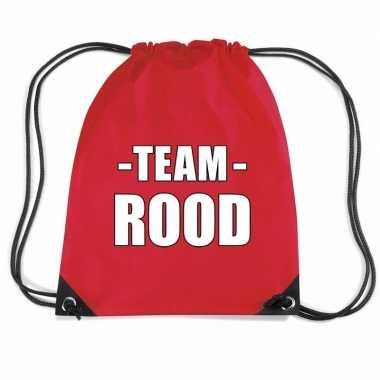 Sportdag team rood rugtas sporttas
