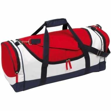 Sporttas/sporttas blauw/rood/wit