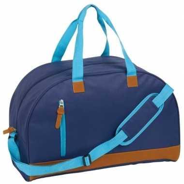 Sporttas/sporttas donkerblauw kunstleer