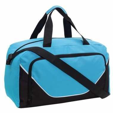 Sporttas/sporttas lichtblauw/zwart