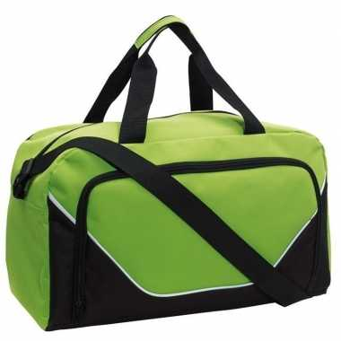 Sporttas/sporttas lime groen/zwart