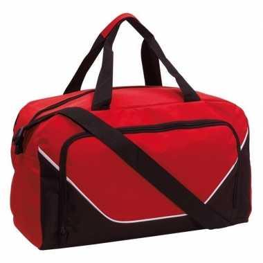 Sporttas/sporttas rood/zwart