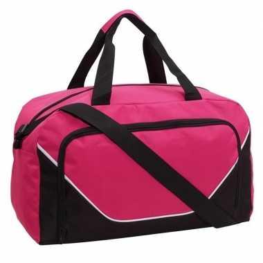 Sporttas/sporttas roze/zwart