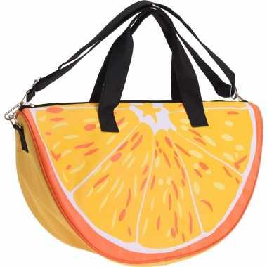 Strandtas/sporttas sinaasappel