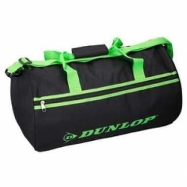 Zwart/groene sporttas dunlop xxcm