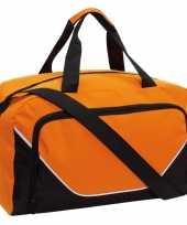 Sporttas sporttas oranje zwart